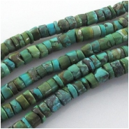 Turquoise Hubei heishi CLOSEOUT gemstone beads (S) Approximate size 6 to 6.5mm 15 inch