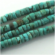 Turquoise Hubei heishi CLOSEOUT gemstone beads (S) Approximate size 7 to 7.5mm 15.2 inch