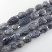 Iolite faceted nugget gemstone beads (N) Approximate size 11 x 12mm to 14 x 23mm 16 inch