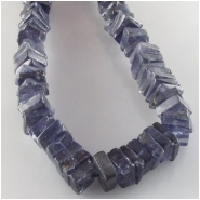 Iolite flat square gemstone beads (N) Approximate size 6mm  8 inch