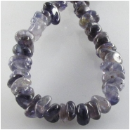 Iolite small nugget gemstone beads (N) Approximate size 4.5 x 5mm to 5 x 10mm 15.7 inch