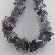 Iolite small chip nugget gemstone beads (N) Approximate size 4 x 6mm to 6 x 11mm 16 inch