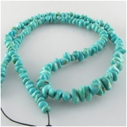 Turquoise Campitos graduated nugget gemstone beads (S) Approximate size range 3.5 x 4mm to 5 x 10.8mm 18 inch