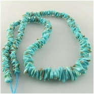 Turquoise Campitos graduated flat nugget gemstone beads (S) Approximate size range 3.8 x 4.5mm to 5.4 x 7.5mm 18 inch