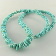 Turquoise Campitos graduated nugget gemstone beads (S) Approximate size range 3 x 4mm to 5 x 9mm 18 inch