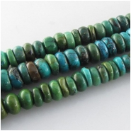 Turquoise Hubei rondelle gemstone beads (S) Approximate size 7.5 to 8.5mm 15.5 inch