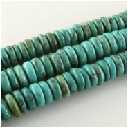 Turquoise Hubei rondelle disc gemstone beads (S) Approximate size 8.6 to 10mm 15.5 inch