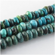 Turquoise Hubei rondelle gemstone beads (S) Approximate size 8.3 to 9.3mm 15.5 inch