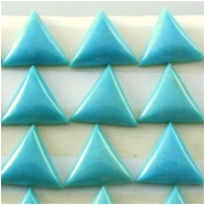 4 Turquoise Hubei triangle cabochon gemstones (S) Approximate size 9.6 to 9.7mm