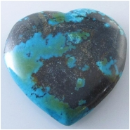 1 Turquoise Hubei heart pendant gemstone bead (S) Approximate size 40 x 40mm x 8.7mm thick Top drilled hole for bale insert