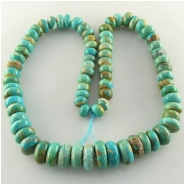 Turquoise North American graduated disc rondelle gemstone beads (S) Approximate size 8 to 17mm 18 inch