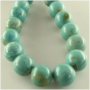 Turquoise North American round gemstone beads (S) Approximate size 11 to 13mm 16 inch