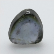 Tourmaline Blue Indicolite Polished Slice Gemstone (N) Approximate size 6.47 x 6.93mm Not Drilled