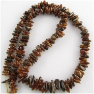 Amber graduated flat nugget gemstone beads (N) 7 to 13mm 18 inch CLOSEOUT