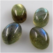 2 Labradorite AAA oval gemstone cabochons (N) 6 x 8mm