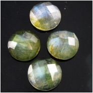 1 Labradorite AAA faceted round gemstone cabochon (N) 7.8 to 8mm CLOSEOUT