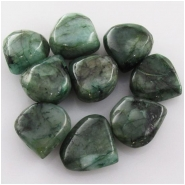 3 Emerald B drop briolette gemstone beads (ED) Approximate size 12 to 12.9mm Top side drilled