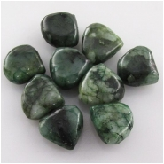 6 Emerald B drop briolette gemstone beads (ED) Approximate size 10 to 10.9mm Top side drilled