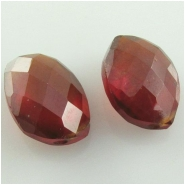 1 Garnet Hessonite faceted AAA fancy pea cut briolette gemstone bead (N) Approximate size 8.7 x 12mm to 8.9 x 12.2mm