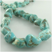 Turquoise Hubei nugget gemstone beads (S) Approximate size range 10 x 10mm to at least 12 x 13mm  15.5 inch