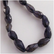 Iolite faceted irregular tear drop gemstone beads (D) Approximate size range 4 x 7mm to 4.5 x 9mm  13 inch