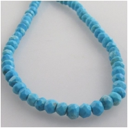 Turquoise faceted roundel gemstone beads Super Sale (SD) Approximate size 3.5mm 13.5 inch