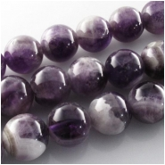 5 Amethyst round gemstone pendant beads (N) Approximate size 15mm