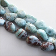 Larimar A nugget gemstone beads (N) Approximate size 8 x 11mm to at least 11 x 16mm 15.5 inch
