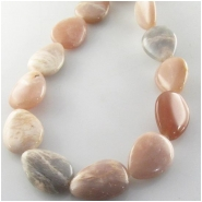Moonstone peach drop gemstone beads (N) Approximate size 15 x 20mm 15.2 inch