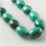 2 Malachite big 1mm hole barrel puff rice gemstone beads (N) Approximate size 9.1 x 12.4mm to 9.9 x 13.8mm