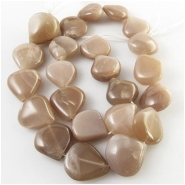 Moonstone graduated one direction drop gemstone beads (N) Approximate size 14 x 15mm to 16 x 18mm 13.5 inch