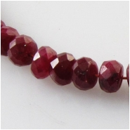 8 Ruby faceted rondelle gemstone beads (HD) Approximate size 3.8 to 4.4mm