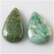 2 Variscite 2mm big hole tear drop pendant gemstone beads (N) Approximate size 23 x 33mm and 20 x 36mm top side drilled