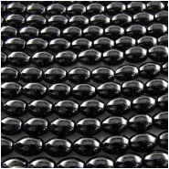 Black Onyx puff rice gemstone beads (HD) Approximately 7 x 9mm 15.5 inch