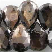 1 Sapphire brown faceted drop briolette gemstone bead (N) Approximately 8 x10mm to 8.5 x 11mm Top side drilled CLOSEOUT