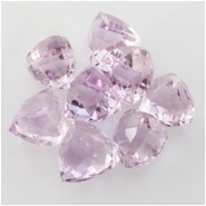 1 Amethyst pink faceted puff pyramid briolette gemstone bead (N) Approximate size range 8.8 x 9mm to 10 x 10.1mm Top side drilled
