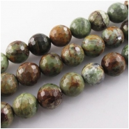 African green opal faceted round gemstone beads (N) Approximate size 10mm 15.2 inch