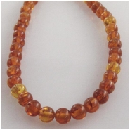Amber Baltic round gemstone beads (N) Approximate size 3.1 to 3.4mm 16 inch