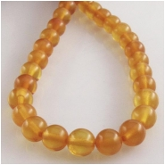 Amber Baltic round gemstone beads (N) Approximate size 5.2 to 5.6mm 16 inch
