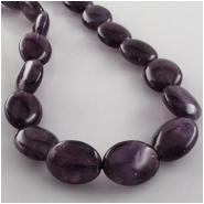 Amethyst plain smooth puff oval gemstone beads (N) Approximate size 12 x 16mm 15.7 inch