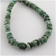 Emerald flat sqare gemstone beads (O) Approximate size 3.5 to 4mm 8 inch