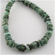 Emerald flat sqare gemstone beads (O) Approximate size 4 to 5mm 8 inch