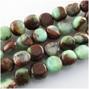 Chrysoprase Australian with Geothite nugget gemstone beads (N) Approximate size range 7.5 x 7.5mm to 8 x 9mm 16 inch