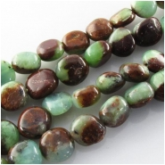 Chrysoprase Australian with Geothite nugget gemstone beads (N) Approximate size range 7.5 x 8mm to 9 x 9mm 16 inch