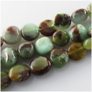 Chrysoprase Australian with Geothite nugget gemstone beads (N) Approximate size range 5.5 x 7mm to 8 x 8mm 16 inch