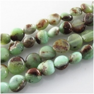 Chrysoprase Australian with Geothite nugget gemstone beads (N) Approximate size range 6 x 6.5mm to 7 x 8mm 16 inch