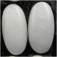 1 Quartz white long oval gemstone cabochon (N) 15 x 30mm, 6.7 to 7.3mm thick.CLOSEOUT