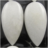 1 Quartz white long drop gemstone cabochon (N) 15 x 30mm, 6.4 to 7.6mm thick.CLOSEOUT