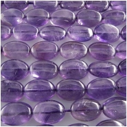 Amethyst oval gemstone beads (N) Approximately 10 x 14mm 15.5 inch CLOSEOUT