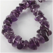 Amethyst chip nugget gemstone beads (N) Approximate size 5 x 5mm to 5.5 x 9mm 15 inch